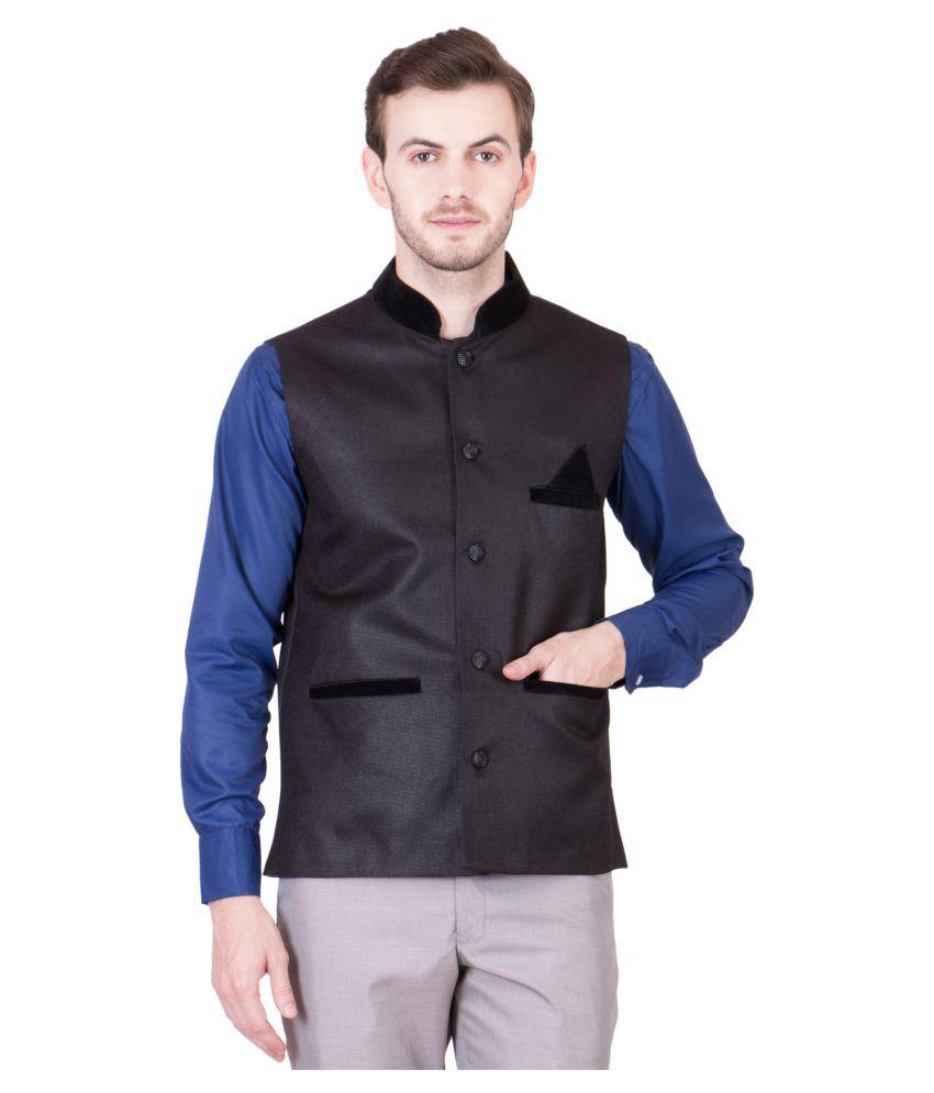 PSK Grey Solid Formal Waistcoats