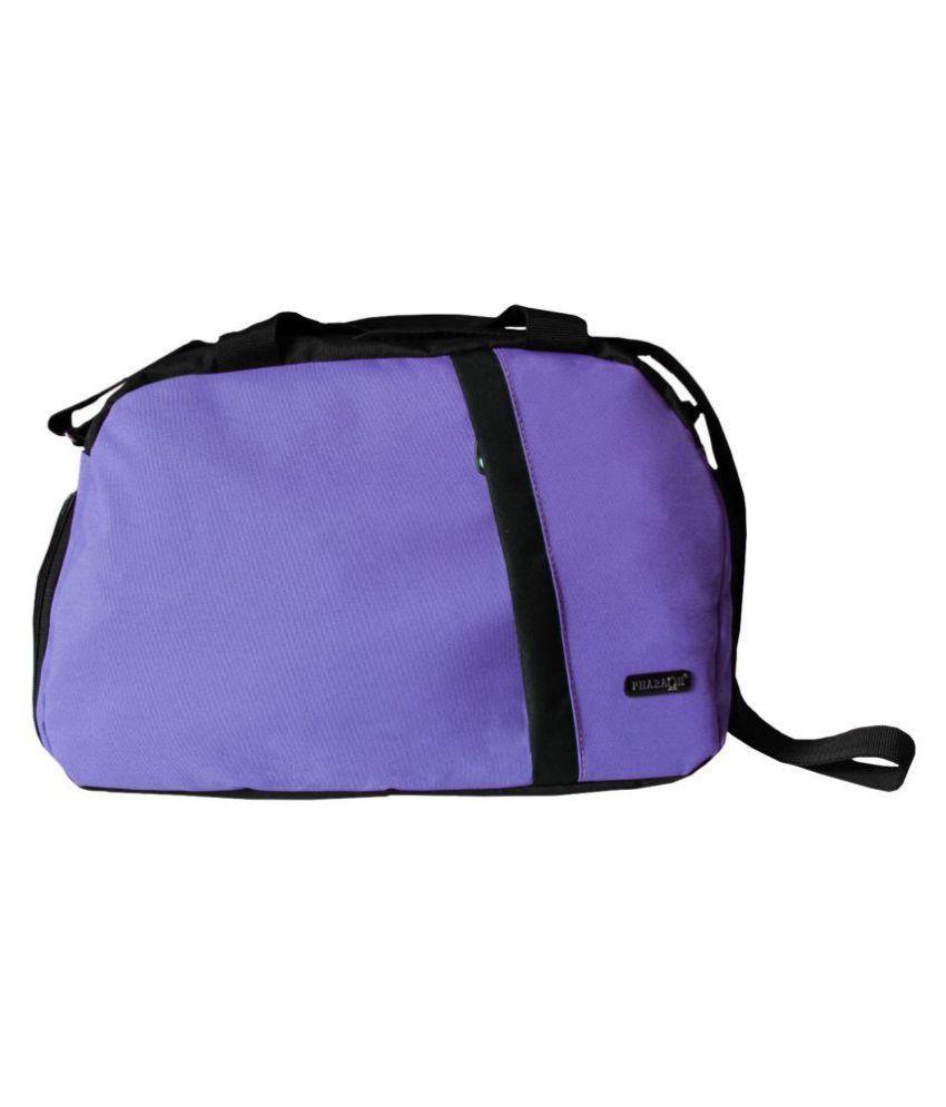 Pharaoh Light Purple Medium Fabric Gym Bag