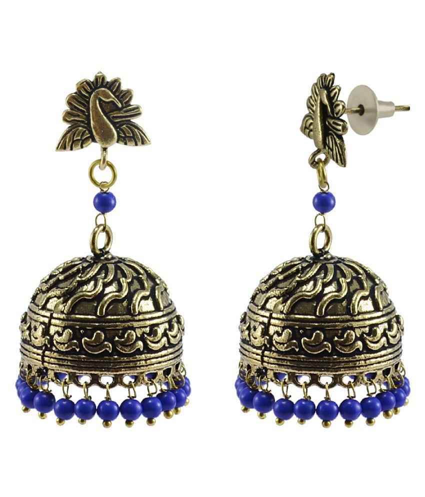 Silvesto India Golden Jhumkis