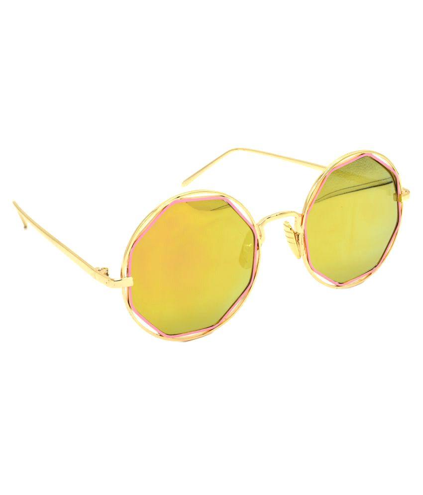 Tara Jarmon Golden Round Sunglasses (  TJ-BX331-GLD-GLD )