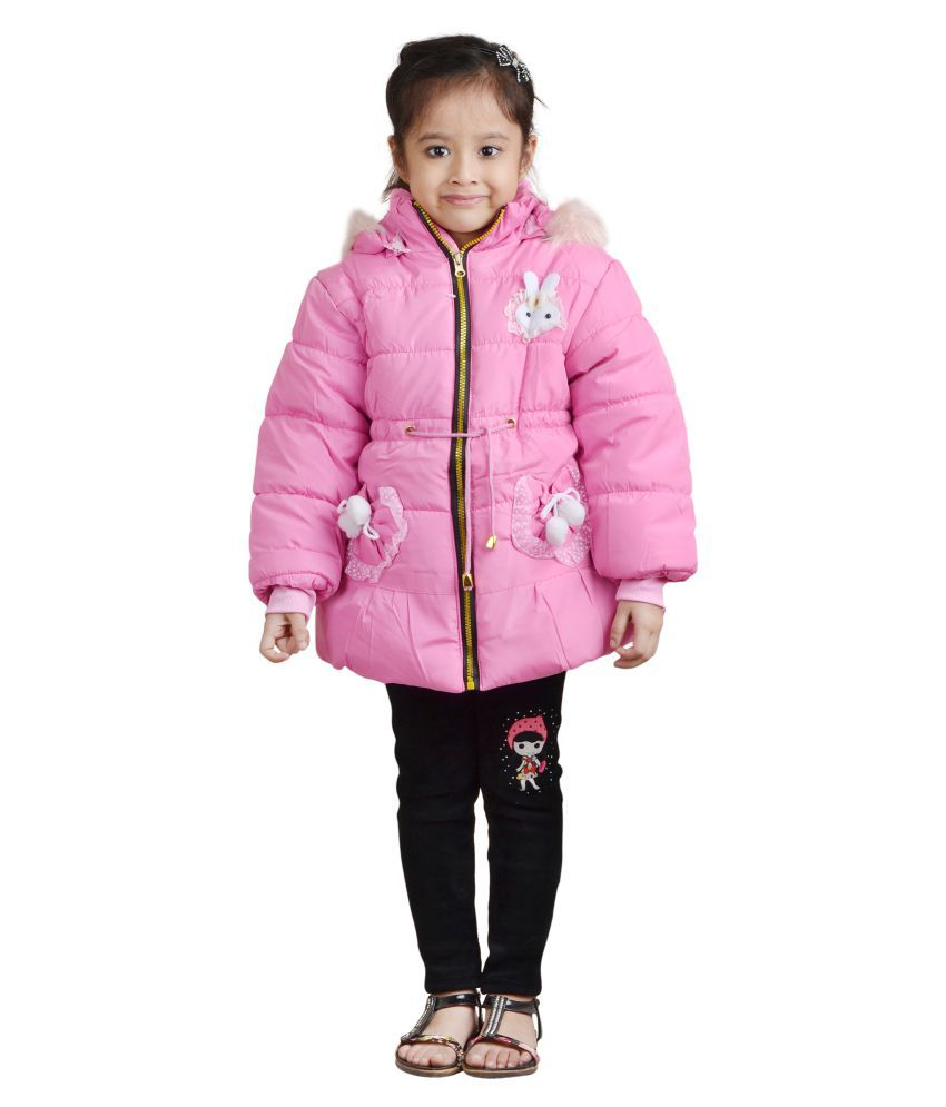 Crazeis Pink Nylon Jacket