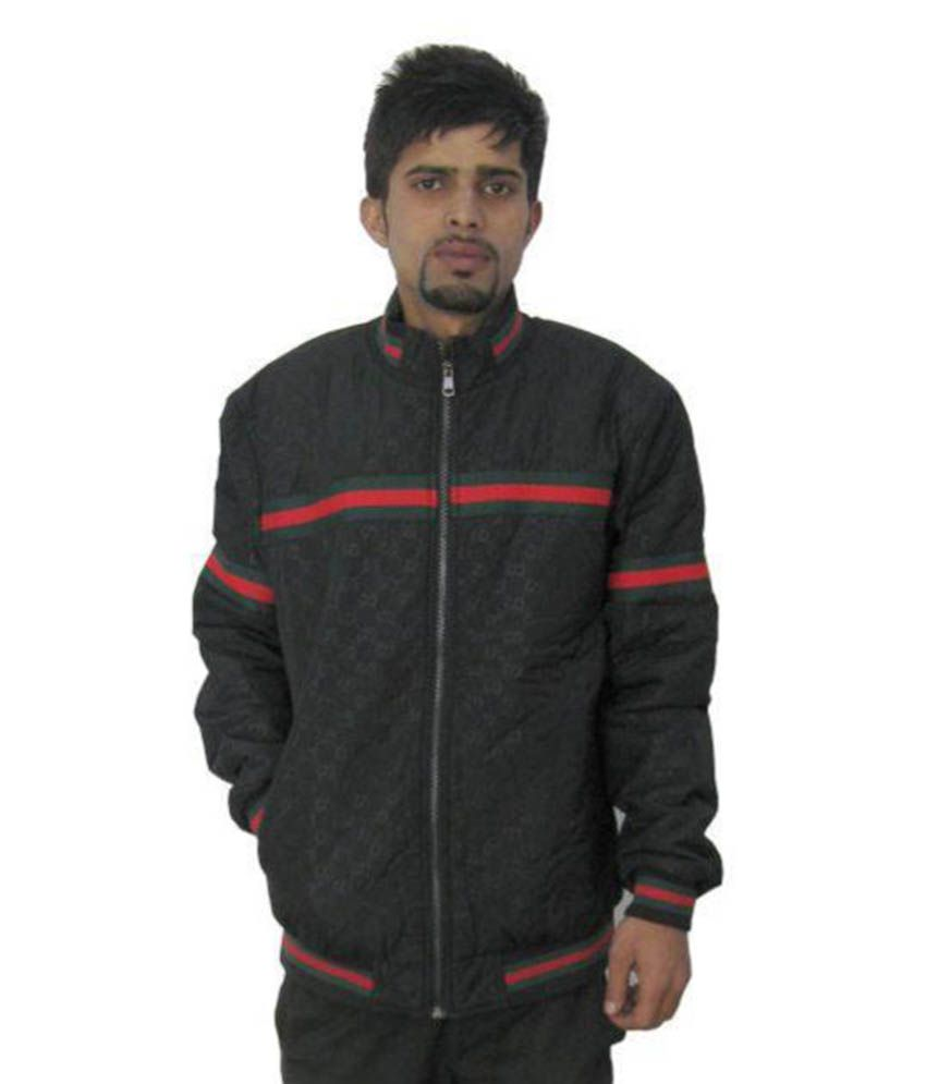 57efa5aa9 Gucci Black Quilted & Bomber Jacket - Buy Gucci Black Quilted & Bomber  Jacket Online at Best Prices in India on Snapdeal