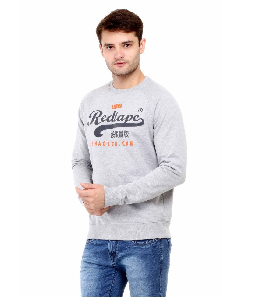 Red Tape Grey Sweatshirt - Buy Red Tape Grey Sweatshirt Online at ...