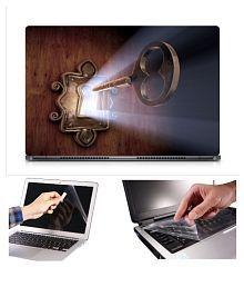 GALLERY 83 Key Lock Rays of Light Laptop Skin Matte Finish Sparkle Laminated Laptop Skin, Screen Protector, Key Gaurd