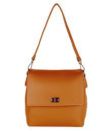 Lino Perros BROWN Faux Leather Sling Bag - 650106064176