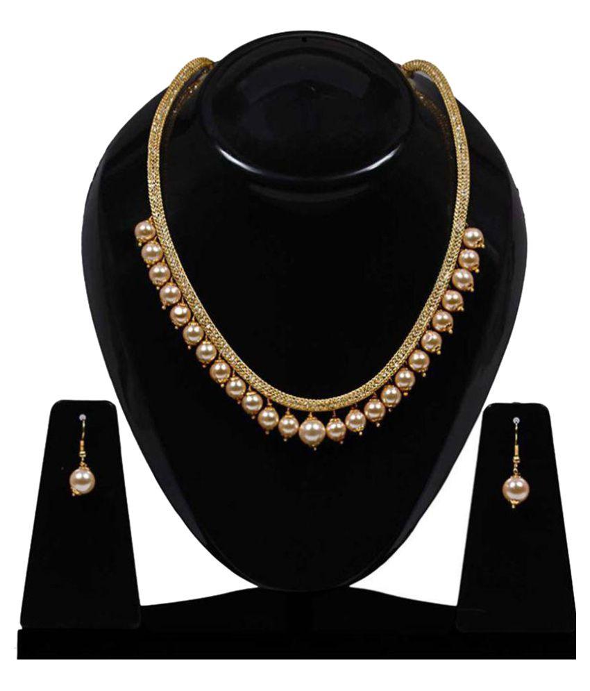 054850b164 Jewels Gold Fancy Delicate Antique Designer Necklace Set - Buy Jewels Gold  Fancy Delicate Antique Designer Necklace Set Online at Best Prices in India  on ...