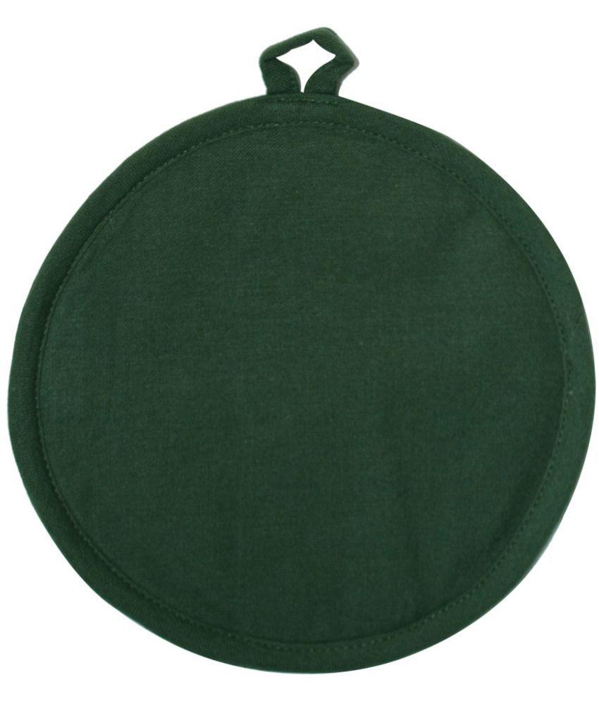Ocean Homestore Plain Green Cotton Round Pot Holder