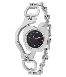 Sale Funda Stylish Apple Silver Analog Black Dial Women's Wrist Watch