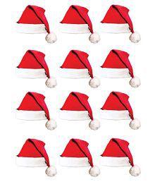 Nxt Gen Red Santa Claus Caps - Pack of 12