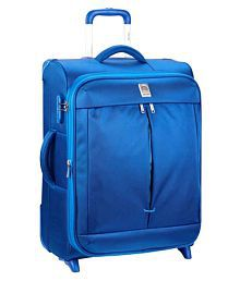 Delsey Light Blue L(Above 70cm) Check-in Soft Flight Luggage