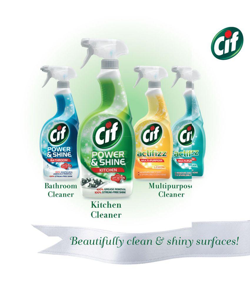 Kitchen Cleaner: Cif Kitchen Cleaner, Power & Shine, 700 Ml: Buy Cif
