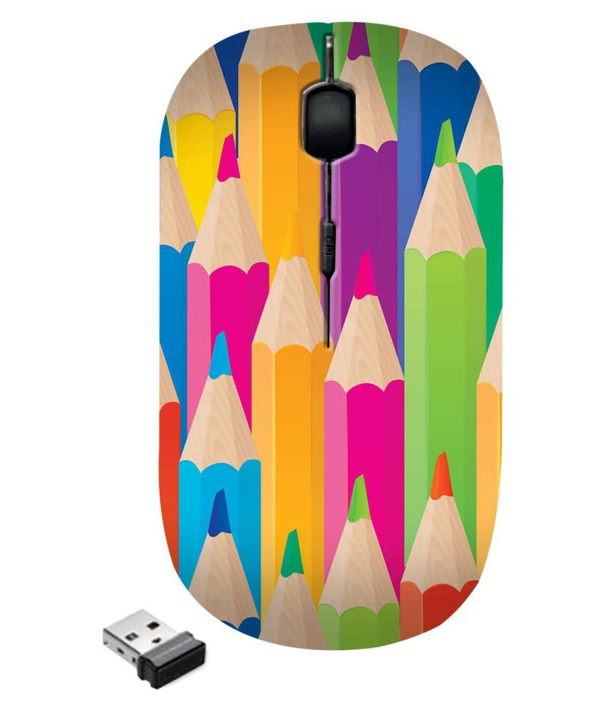 Zapcase Ultra Slim\n Multicolour(May vary as per availability) Wireless Mouse