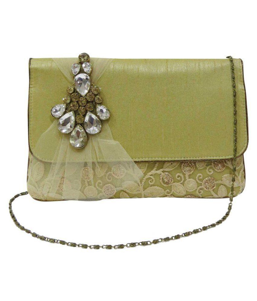 Deepsum Green Silk Wristlet