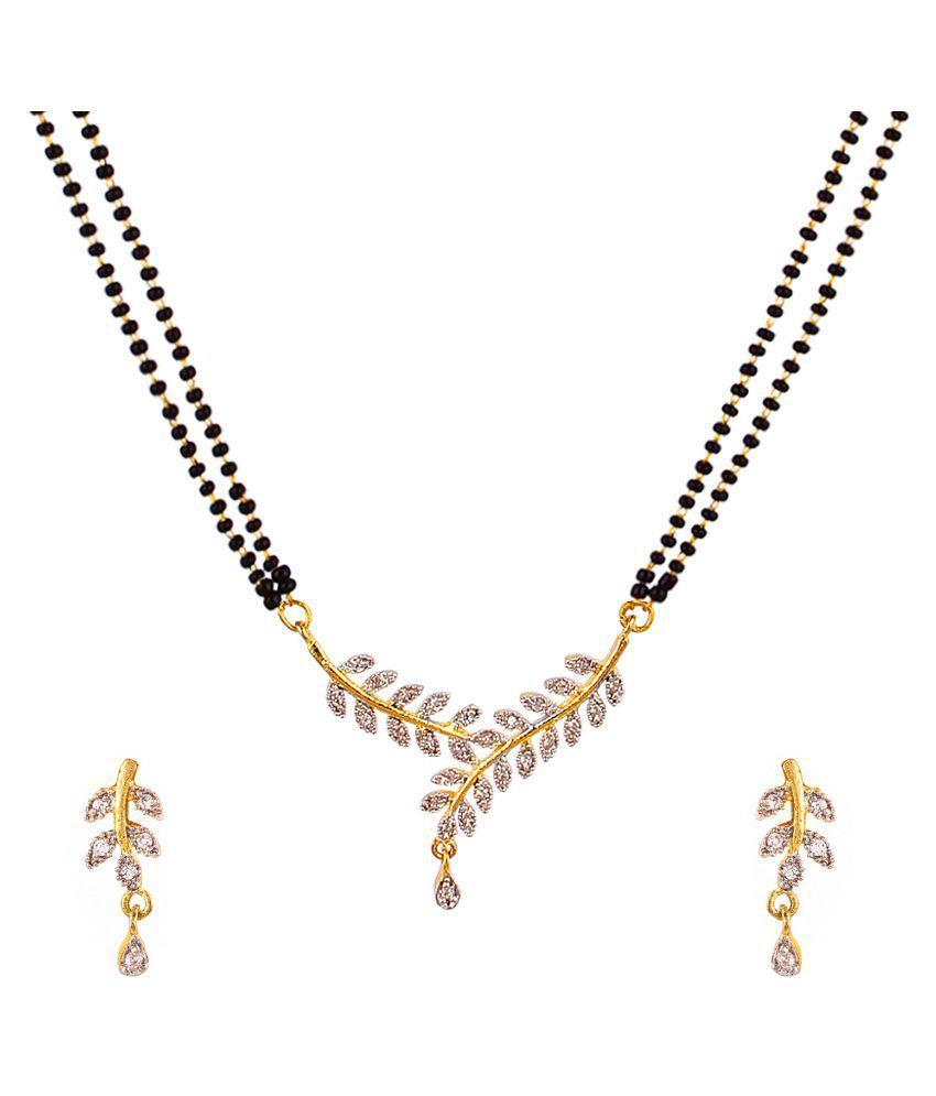 Panash Golden Beads Mangalsutra Set for Women