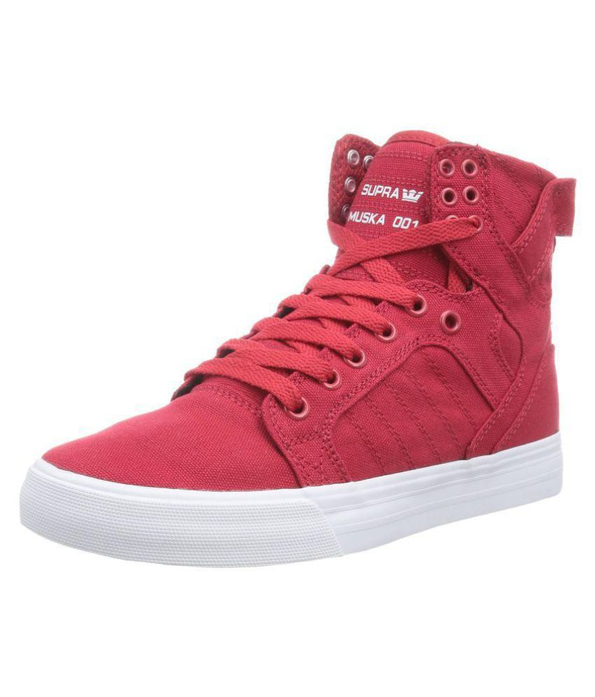 Supra Sneakers Red Casual Shoes - Buy Supra Sneakers Red Casual Shoes  Online at Best Prices in India on Snapdeal dd3a554c88e3