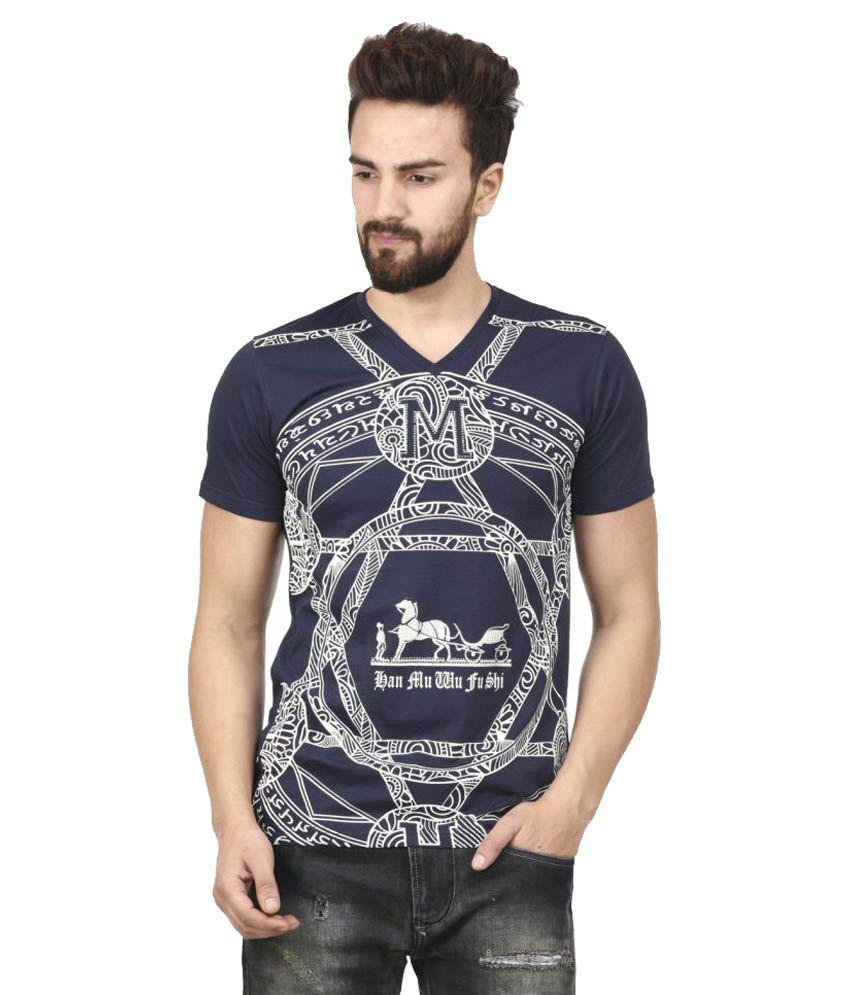 MSG Navy V-Neck T-Shirt