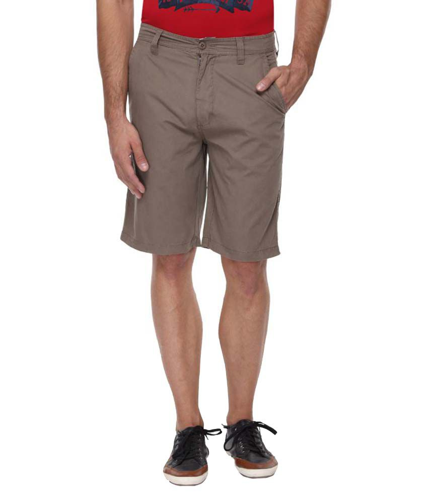Blue Wave Brown Shorts