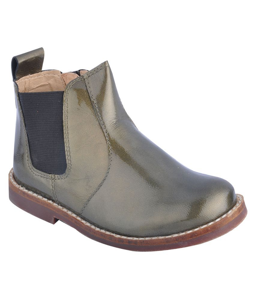 886c88a3ae1 Beanz Olive Green Patent Leather Boots Price in India- Buy Beanz Olive  Green Patent Leather Boots Online at Snapdeal