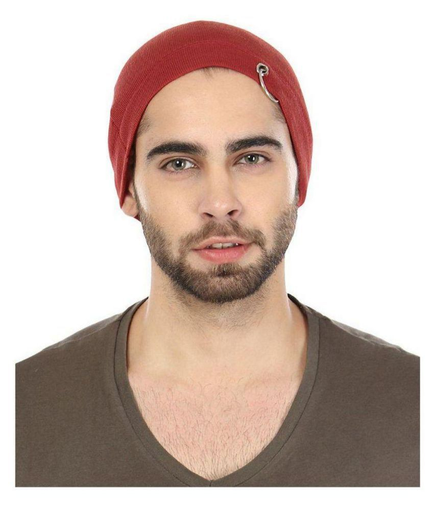 99dailydeals Maroon Knitted Wool Caps