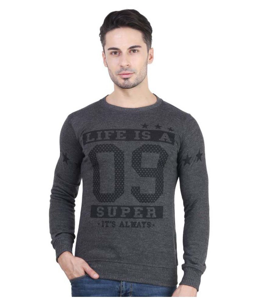 Bravezi Grey Round T-Shirt