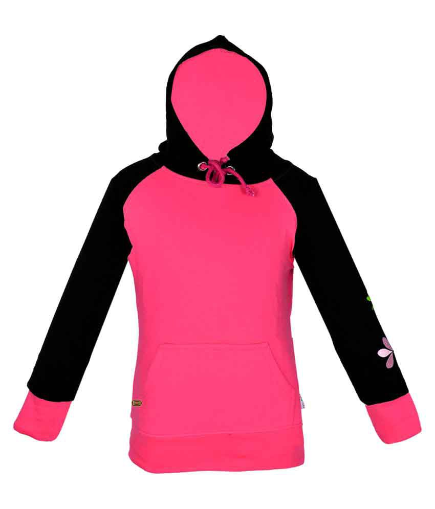 Gkidz Girls Hooded Full Sleeve Sweatshirt