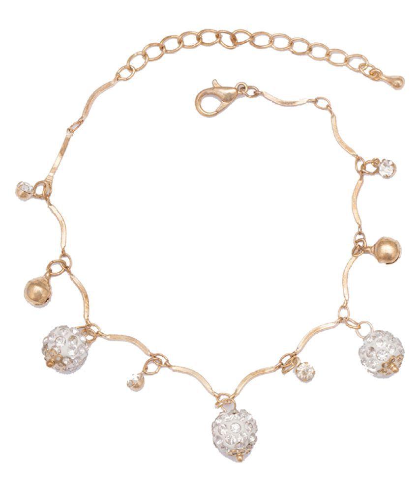 Glitters Online Golden Anklet