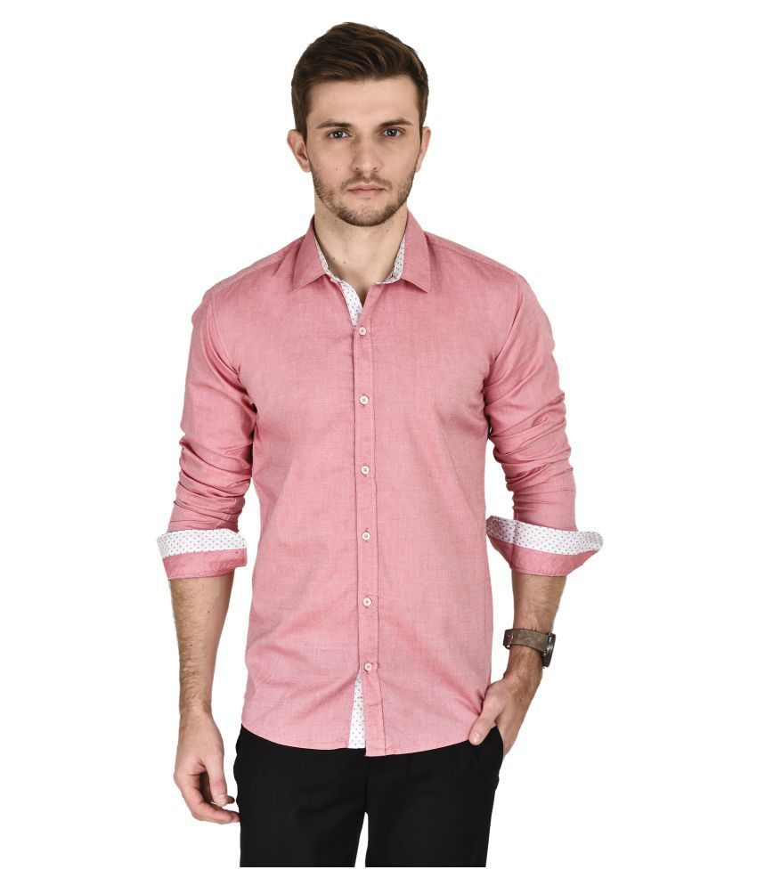 KayaDeals Pink Casuals Slim Fit Shirt