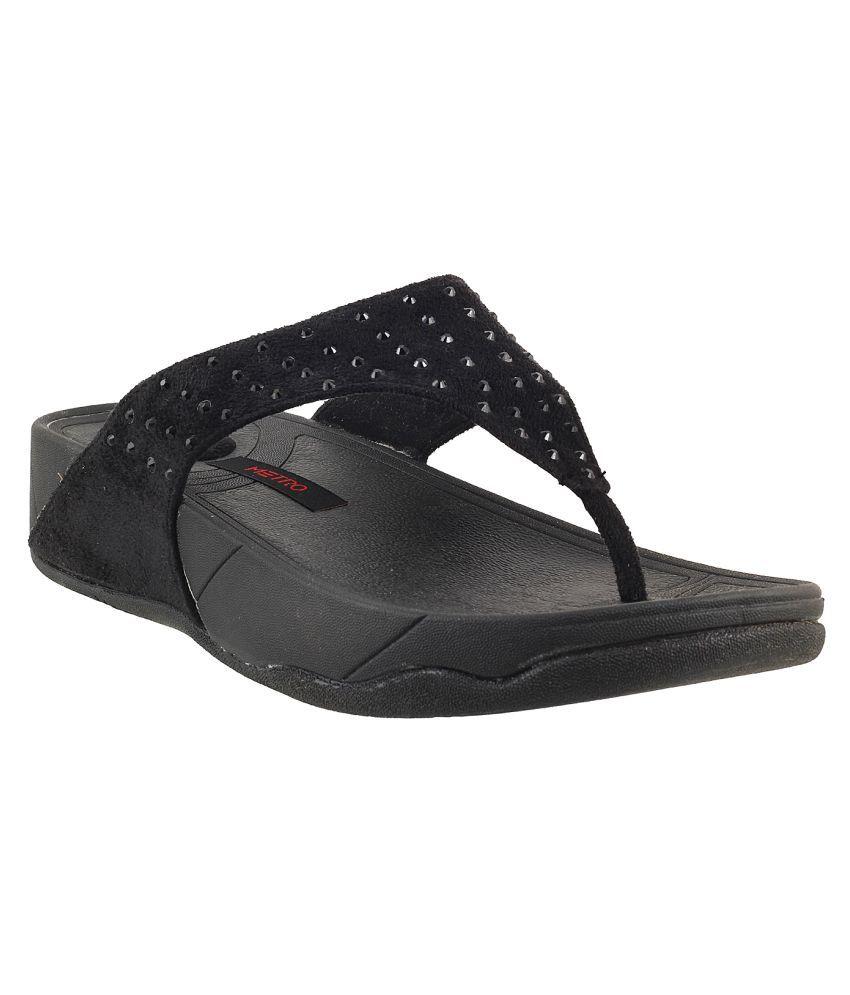 METRO BLACK Slippers