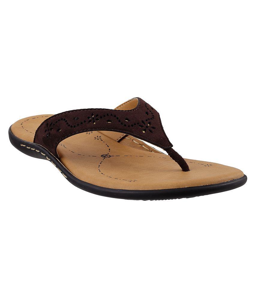 METRO BROWN Slippers