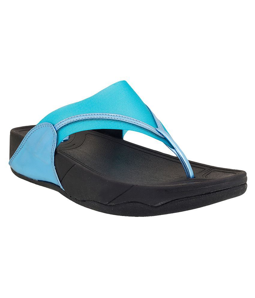METRO Blue Slippers