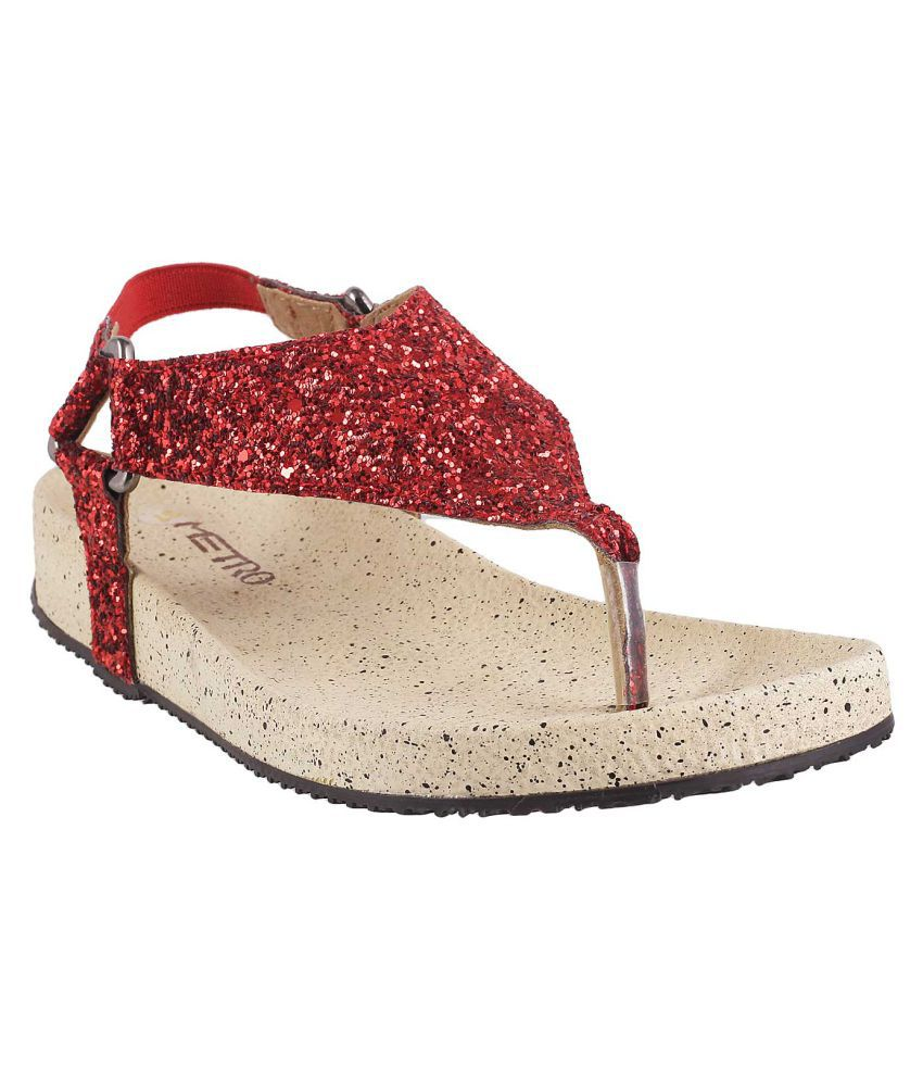 METRO RED Slippers