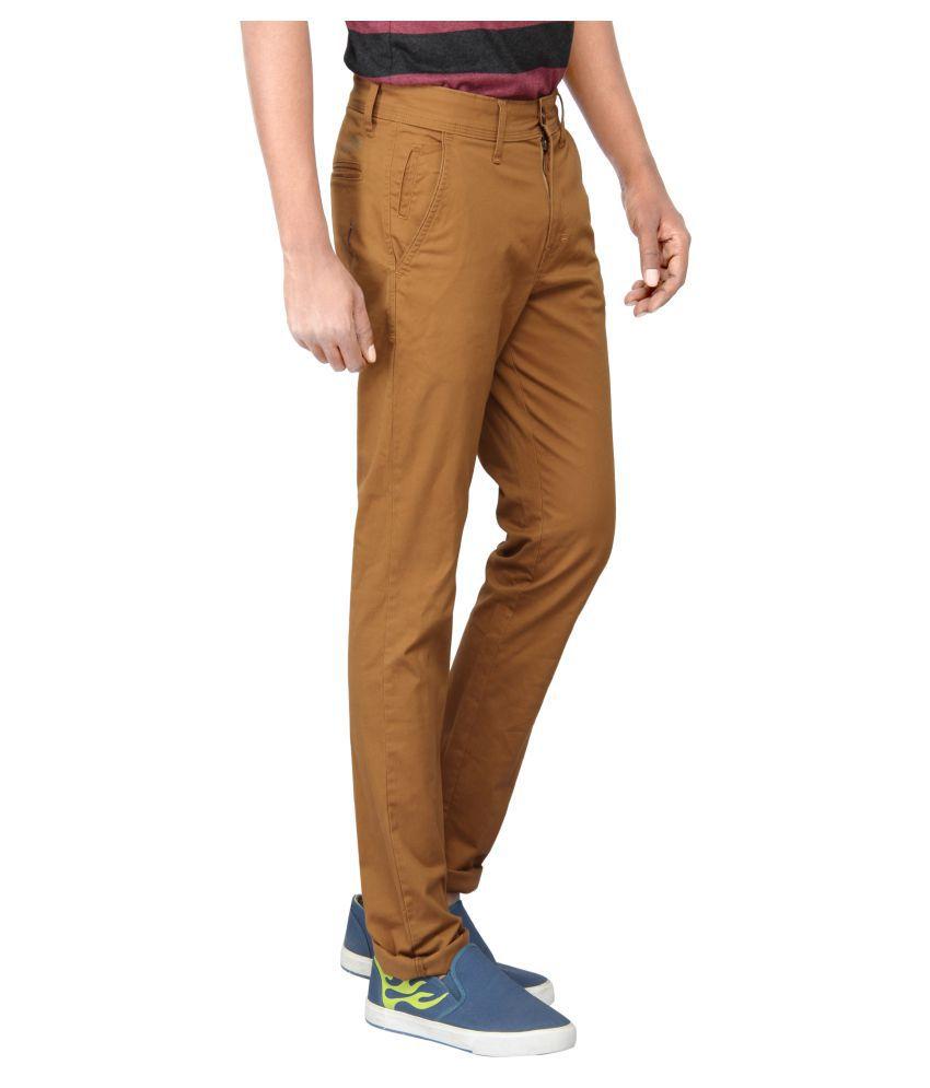 Pepe Jeans Dark Brown Slim Flat Chinos