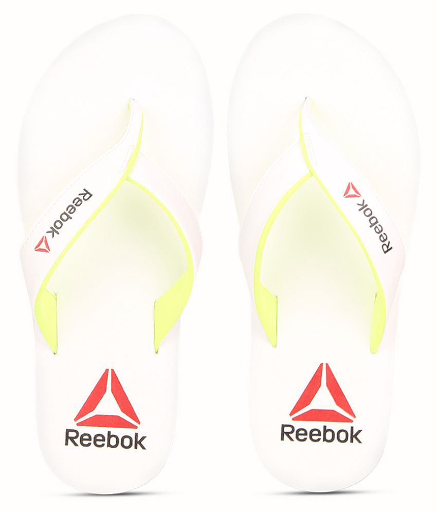 fdecbcd2e8b3 Reebok Advent White Thong Flip Flop Price in India- Buy Reebok Advent White  Thong Flip Flop Online at Snapdeal