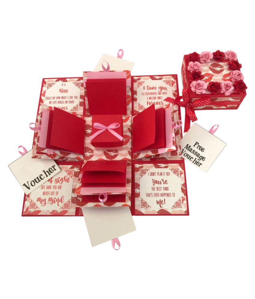 3 Layered Romantic Explosion Box Hot