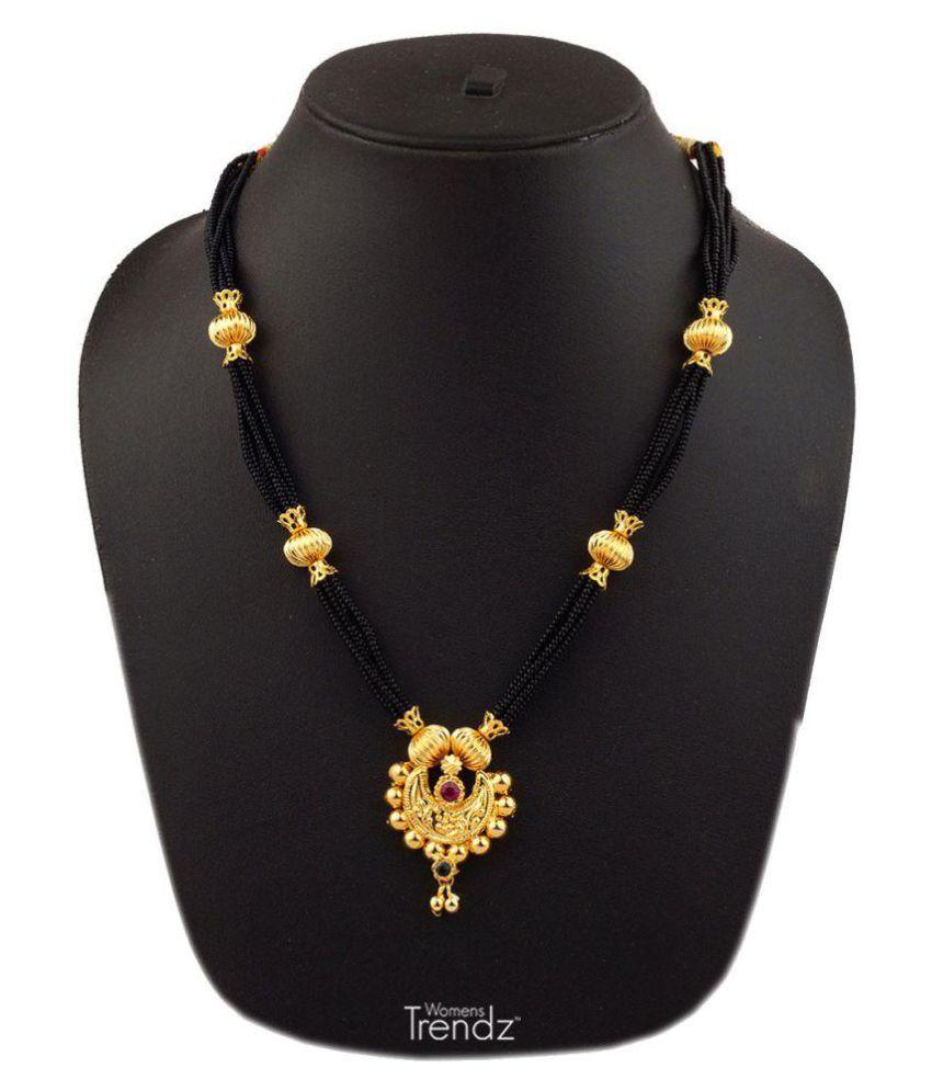 Womens Trendz Chandramukhi 24K Gold Plated Alloy Mangalsutra