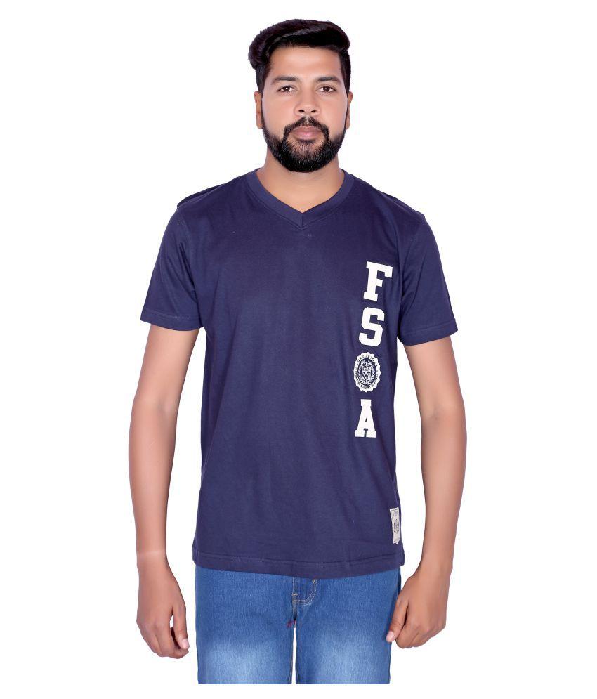 Fila Navy V-Neck T-Shirt
