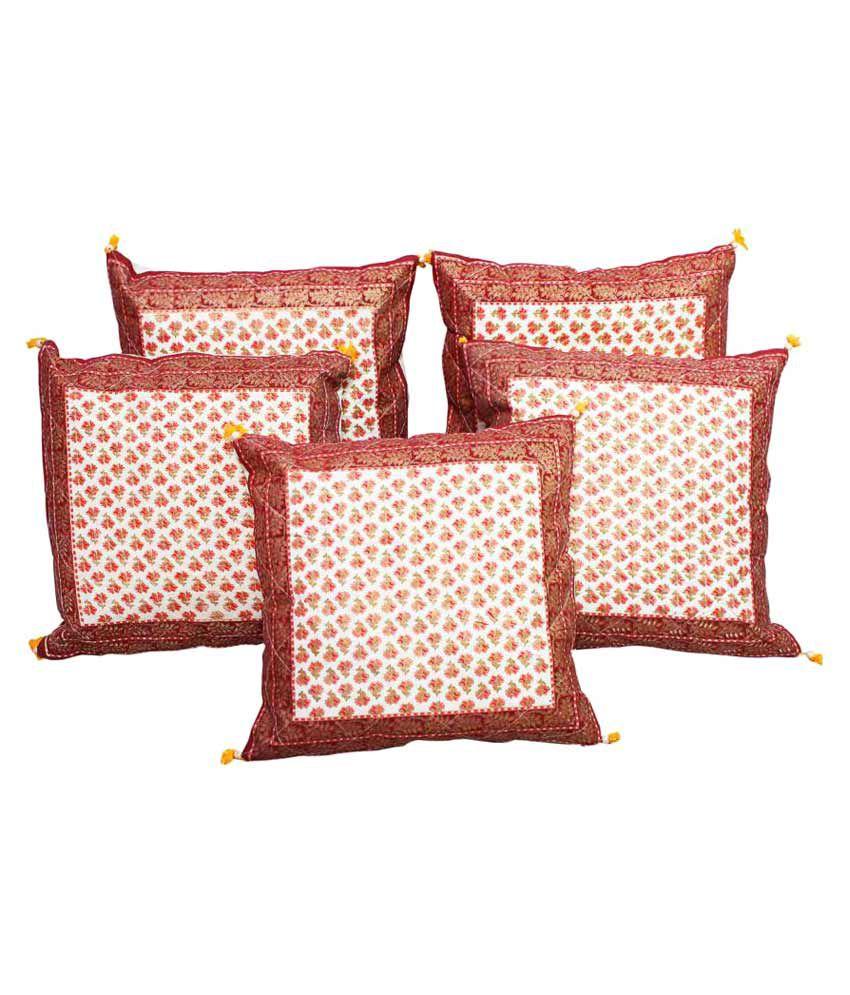 Gurukripa Shopee Set of 5 Cotton Cushion Covers