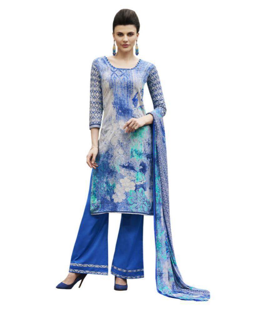 Vbuyz Multicoloured Cotton Dress Material