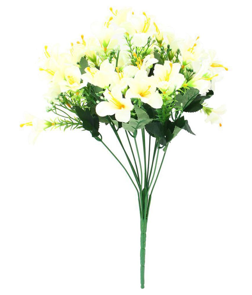 Indian Decor Company Lily Artificial Flowers Bunch Yellow Buy