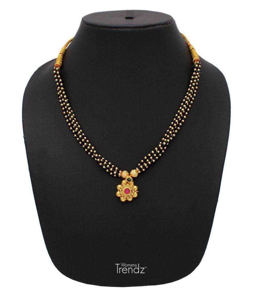 Womens Trendz Jhondhala Poat Saaj Ghat 24K Gold Plated Alloy Mangalsutra