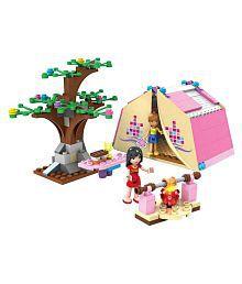 Webby Multicolored PlasticPicnic Play Campers Building Blocks - 179 Pieces