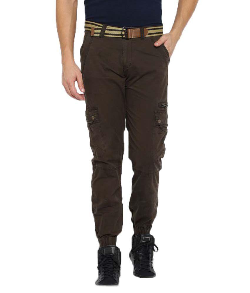 Sports 52 Wear Brown Regular Flat Trouser