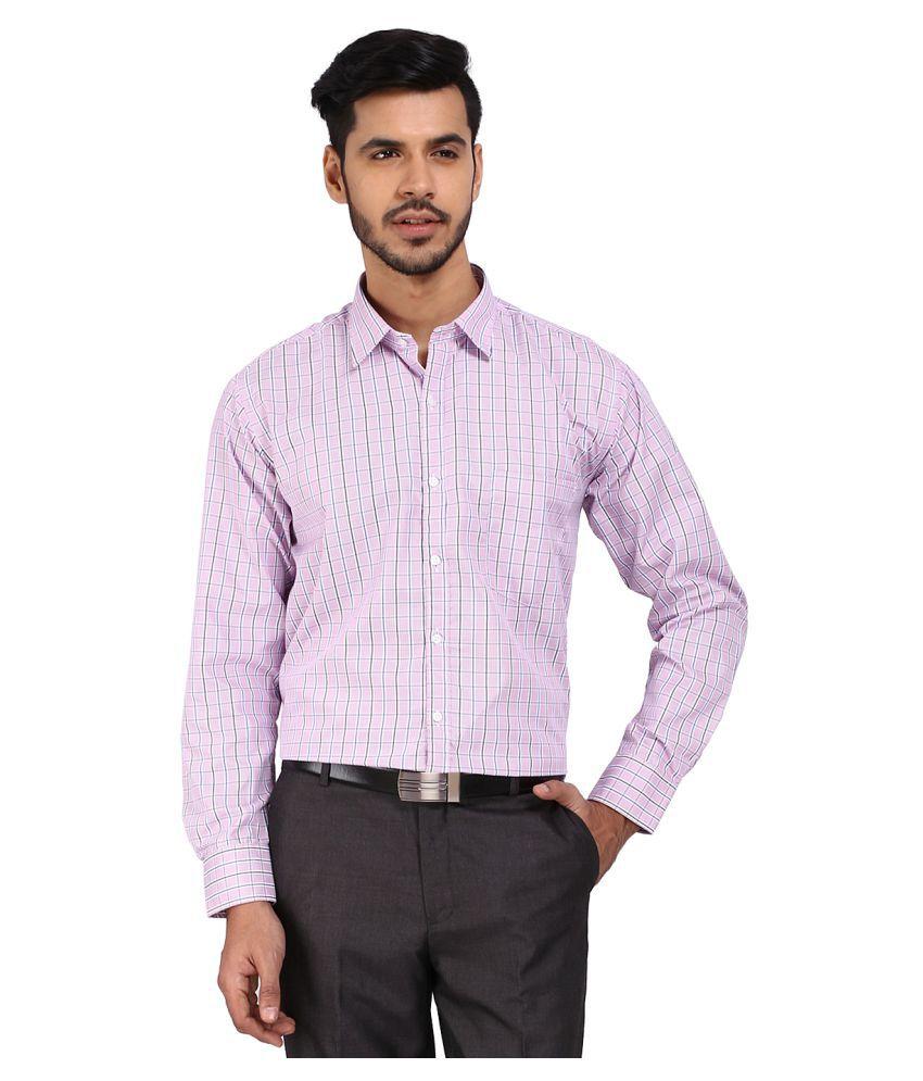 Devaa Purple Formal Slim Fit Shirt