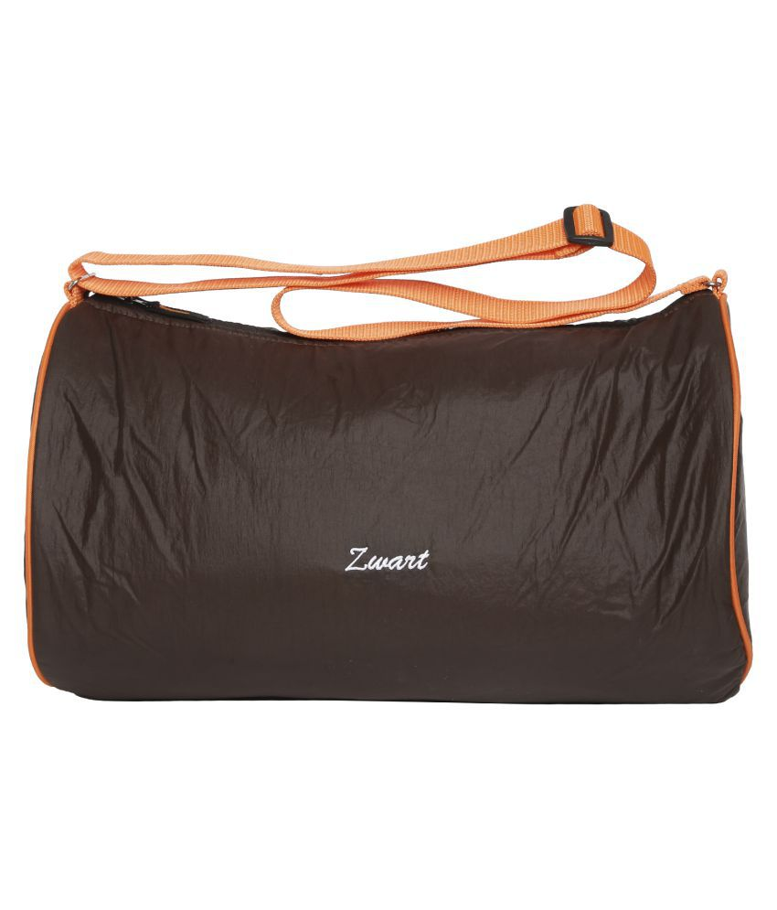 Zwart Brown Medium Polyester Gym Bag