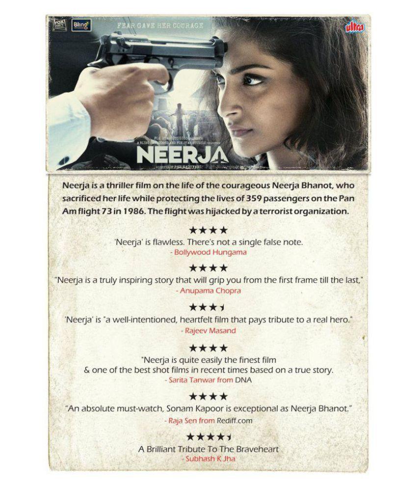 Neerja 2016 Movie - ( DVD )- Hindi