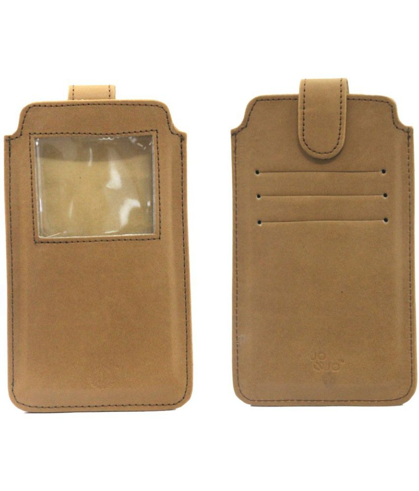 Micromax Canvas XL A119 Holster Cover by Jojo - Brown