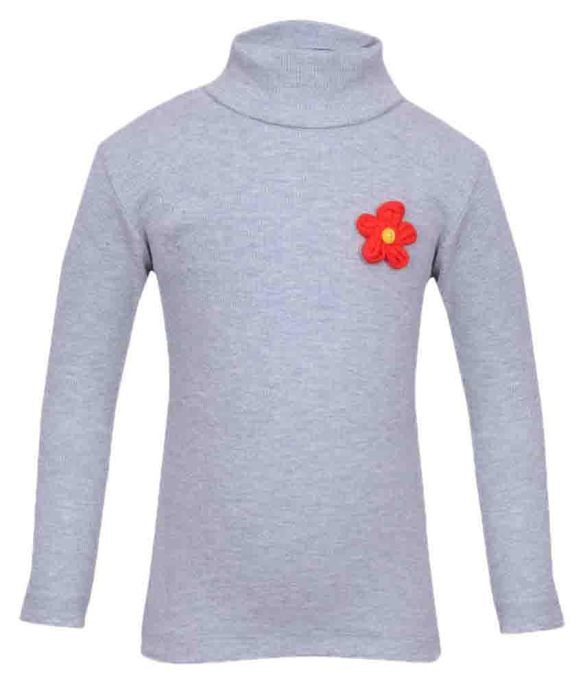 Bio Kid Gray Cotton Girl Sweatshirt