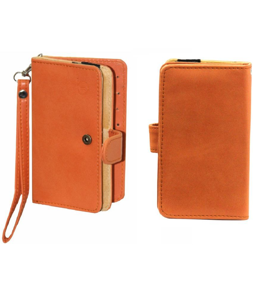 Micromax Bolt A61 Holster Cover by Jojo - Orange