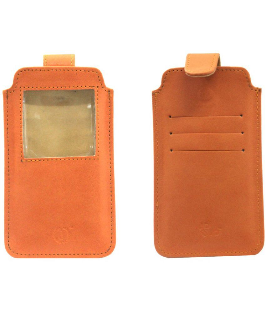 Micromax Canvas Juice 2 Holster Cover by Jojo - Orange