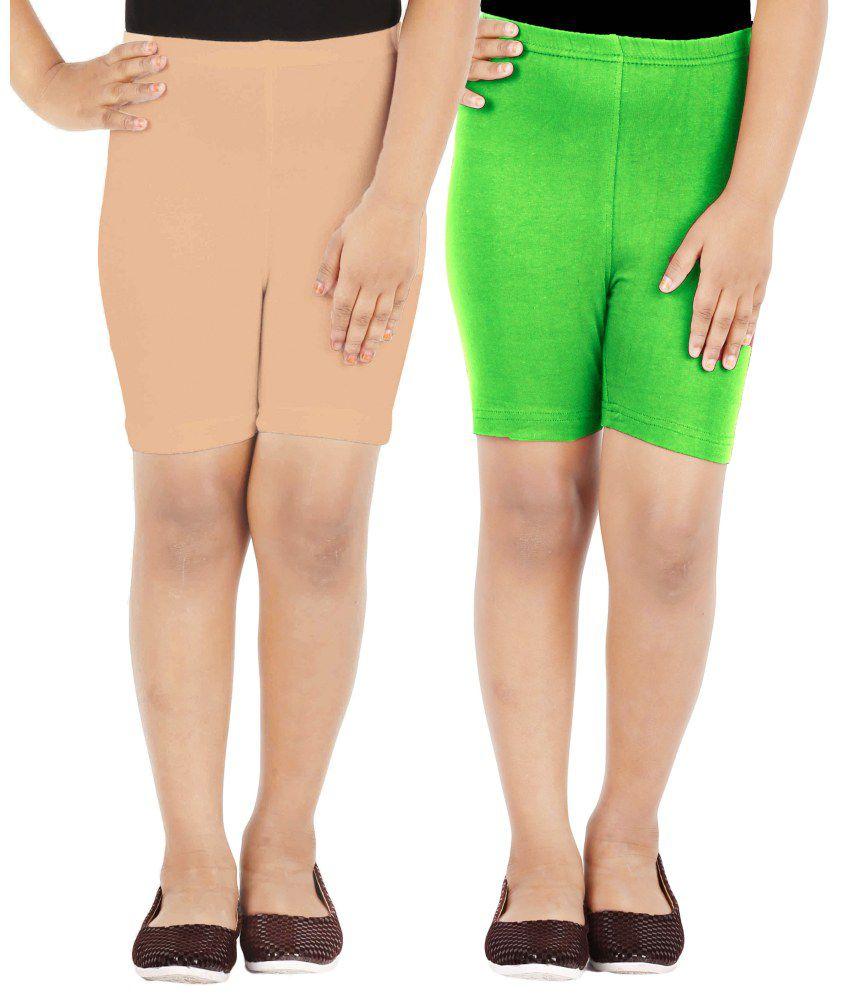 Lula Girls Cycling Shorts -Pack of 2
